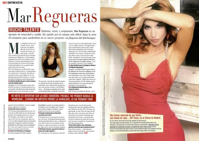 Revista mujer21 - Mar Regueras