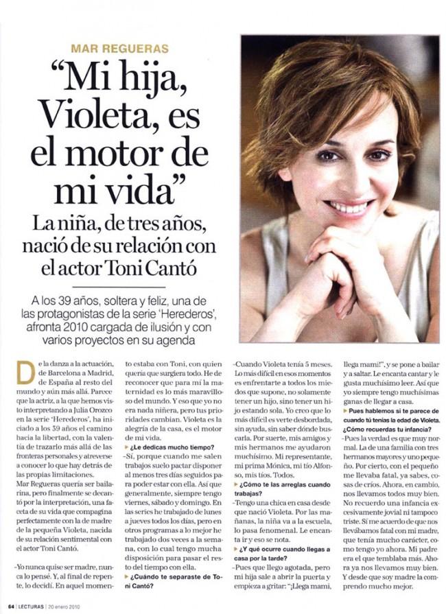 Revista Lecturas - Mar Regueras